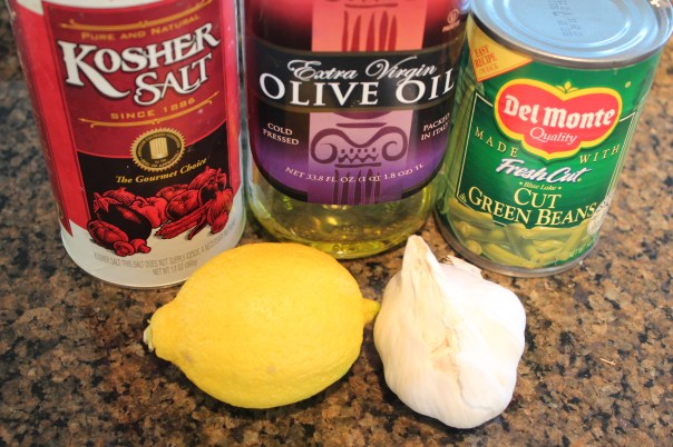 green beans, lemon, lemon juice, lemon zest, garlic, olive oil, kosher salt, recipe, ingredients