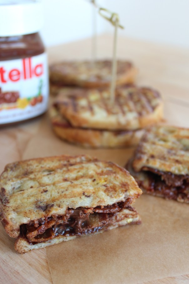 Nutella Bacon French Toast Breakfast Panini