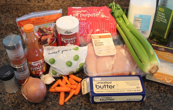 Mini Buffalo Chicken Pot Pie Ingredients