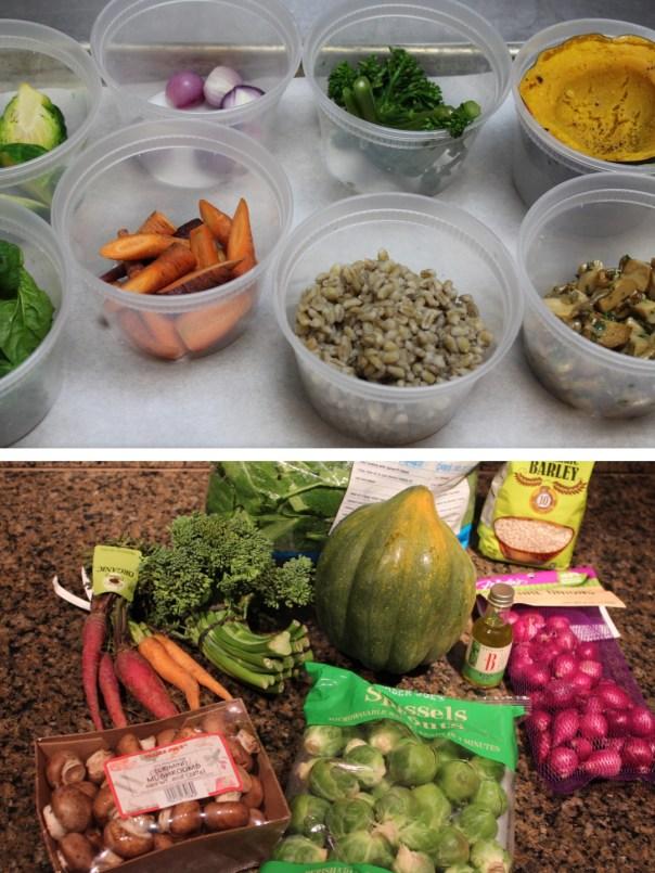 risotto style barley, mushroom barley, stuffed squash, barley squash, vegetable stuffed squash, winter vegetables, vegetarian dish, recipes, food