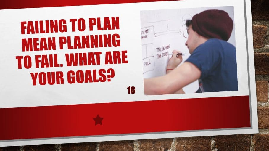 Failing to plan mean planning to fail. What are your goals?