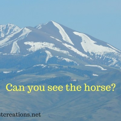 What does the Horse on the Mountain Mean?  Can You See It?