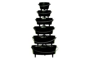 Stack of Dutch ovens.