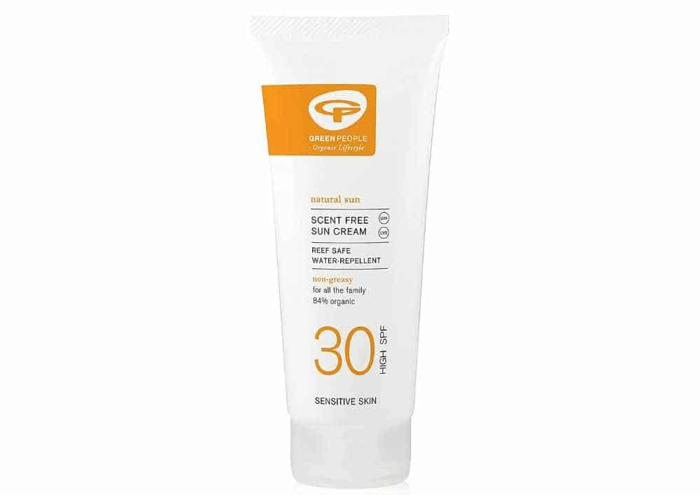 Product image of Green People sunscreen.