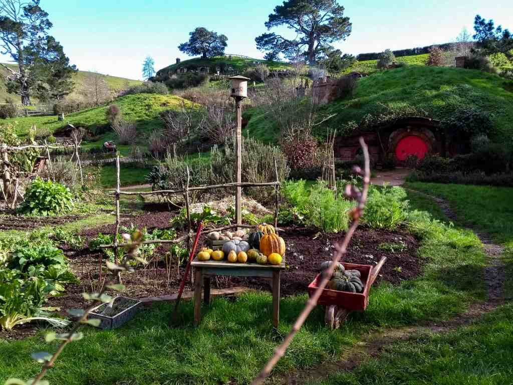 vegetable patch by a hobbit hole