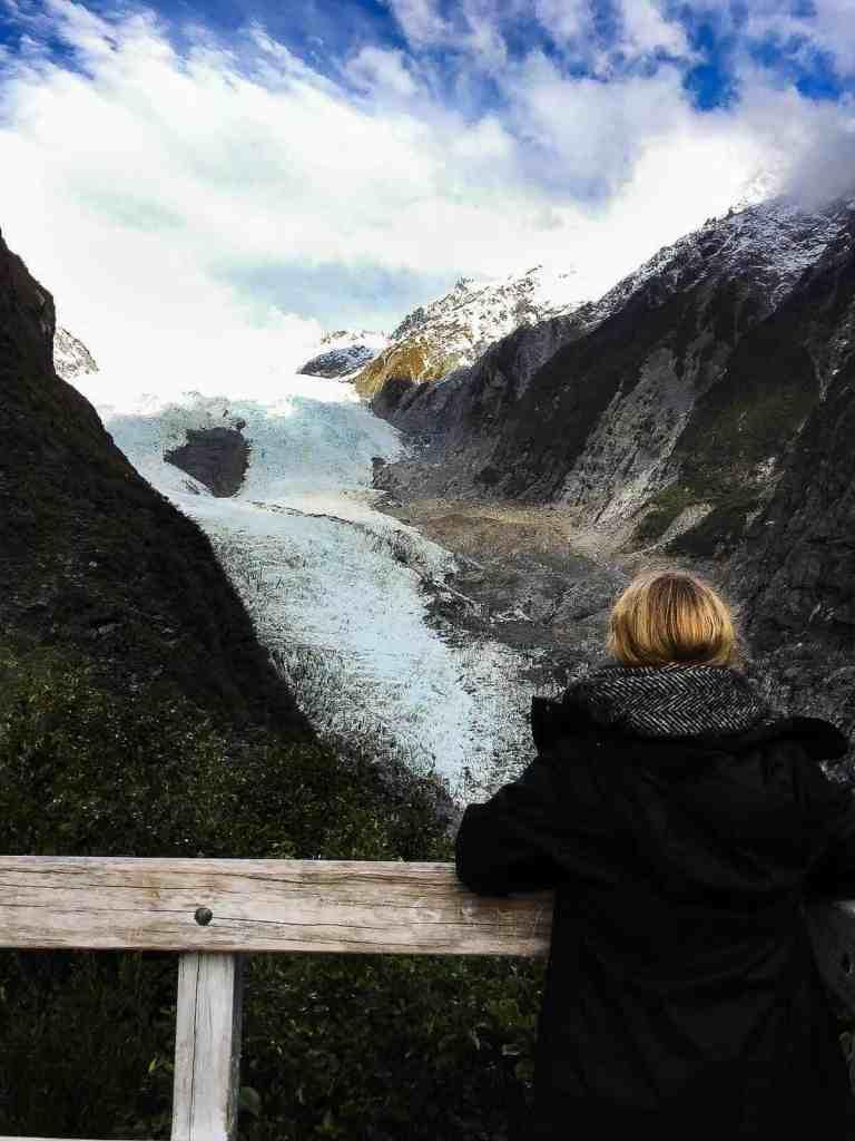 hike to franz josef glacier - view