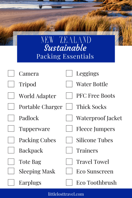 Pinterest New Zealand sustainable packing list