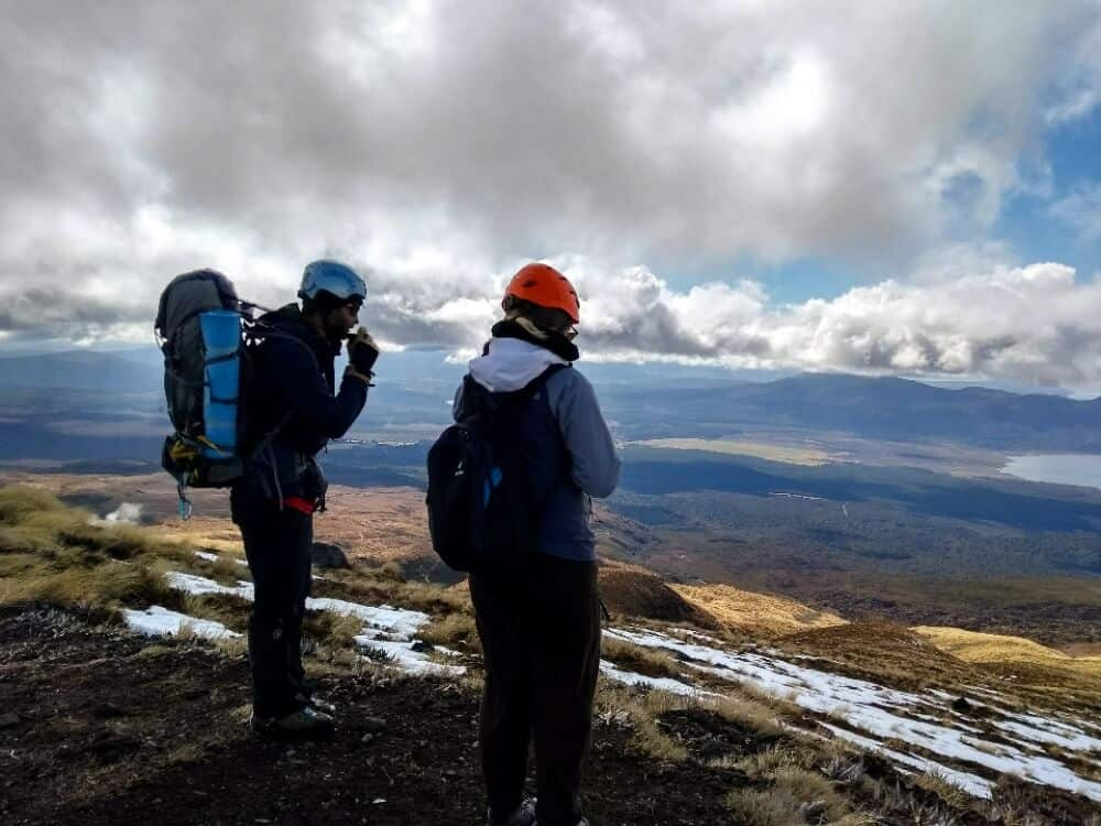 Tongariro Crossing with a team