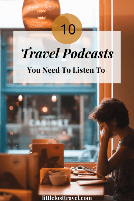 pinterest pin for best travel podcasts