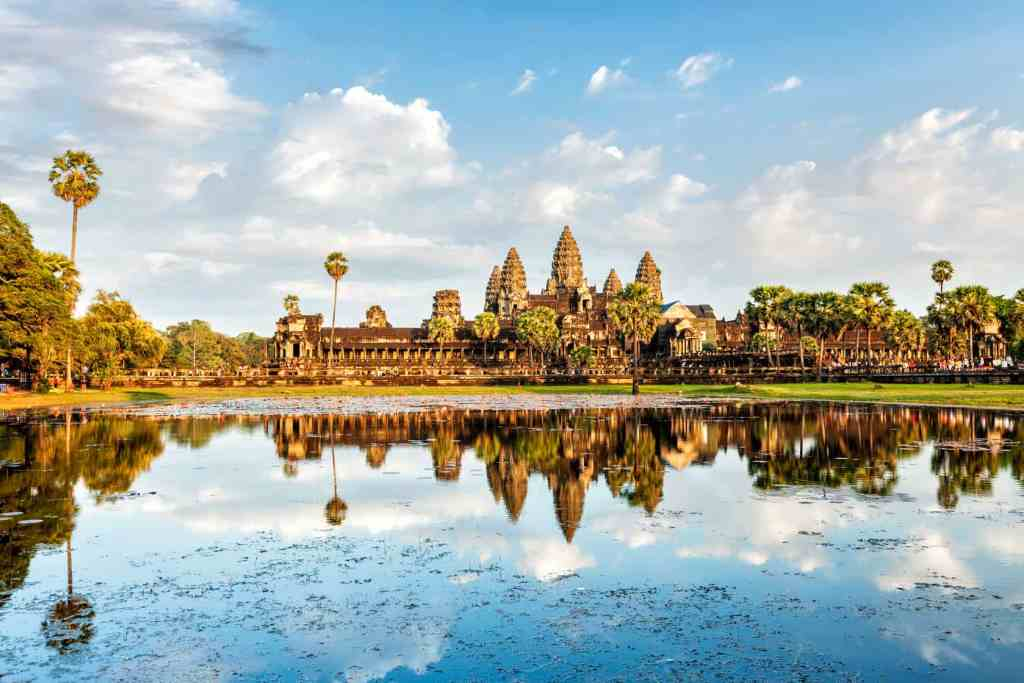 Image of Angkor Wat in Cambodia for Rickshaw Travel tour.