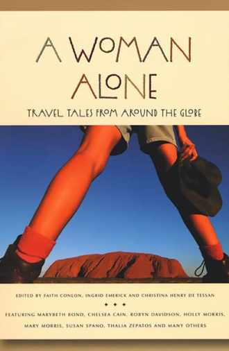 Book cover of A Woman Alone with the legs of a woman in Australia.