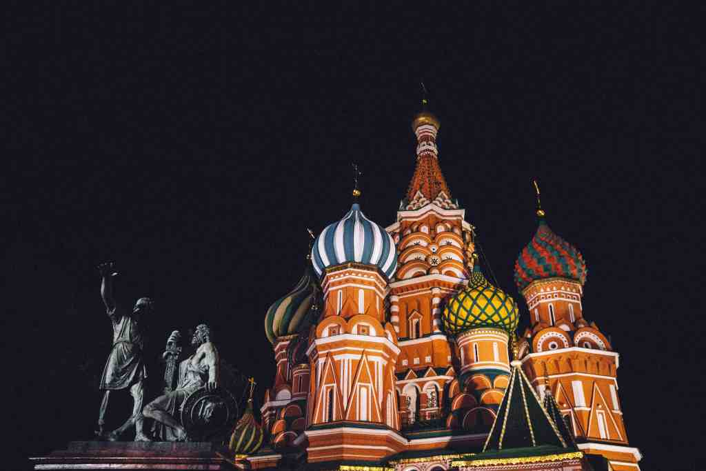 St. Basil's Cathedral, Moscow, Russia for the 10 most epic train journeys in the world.