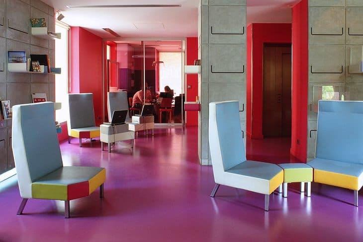 Hi Hotel lounge for stylish eco-friendly hotels.