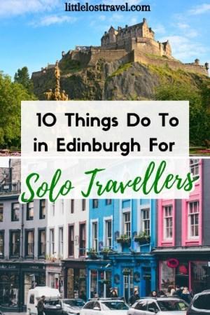 Pinterest pin for Edinburgh