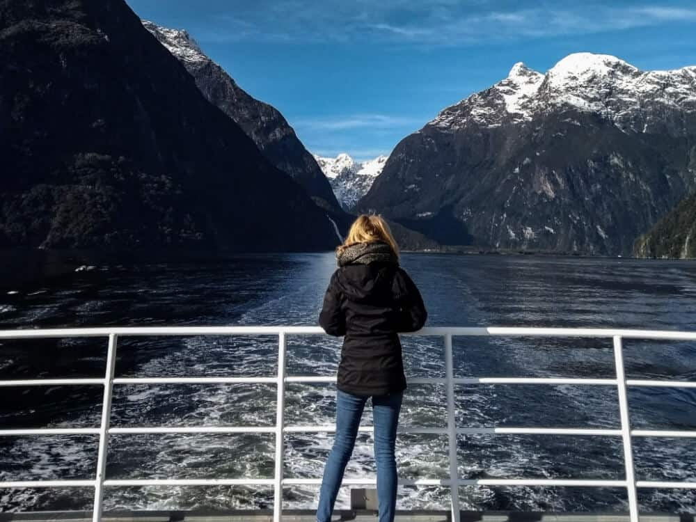 solo female travel - Views of the mountains from the cruise