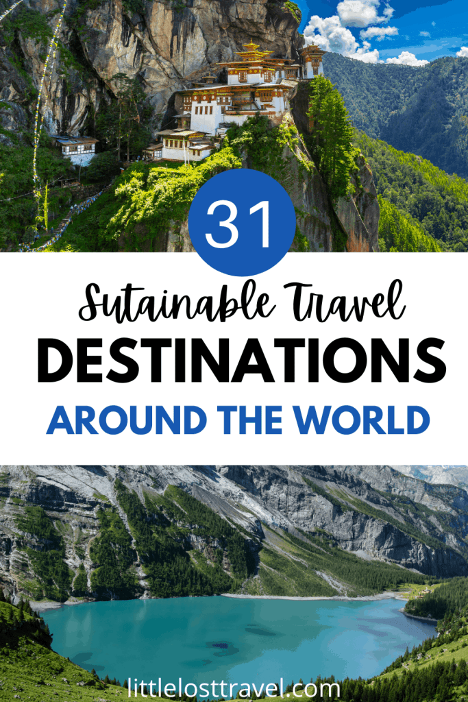 Are you a nature lover who loves to travel? Here are the top sustainable travel destinations around the world to add to your bucket list. Unique outdoor travel experiences include camping in Spain, seeing humpack whales in Costa Rica and hiking in Norway. Check out your dream destinations now.