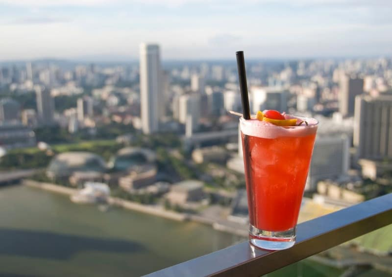 Singapore Sling with a great view. What more could you want from a cocktail?