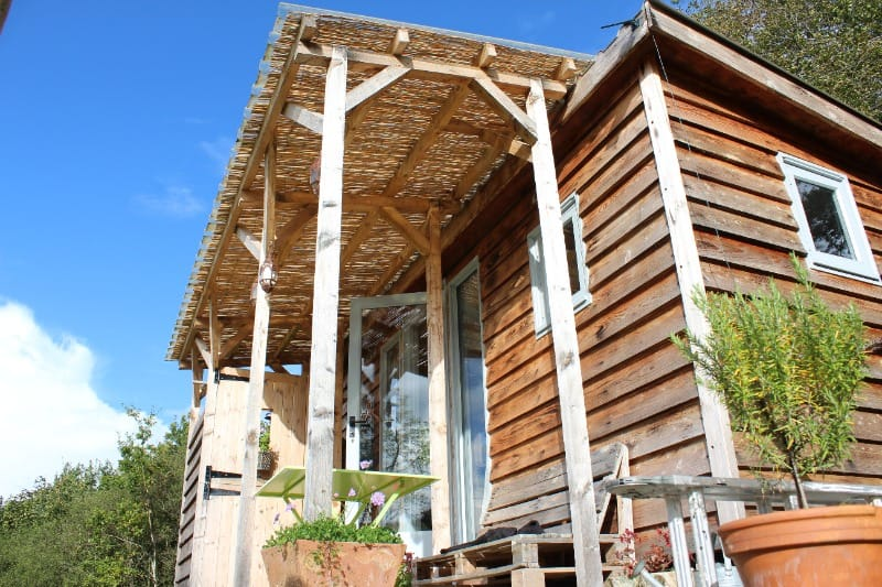 Caban Y Bryn is an eco holiday home located near Hay-on-Wye in Wales.