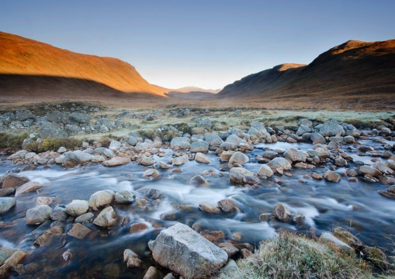 Corrour is part of this Scottish Highlands itinerary. It's a remote moorland with hills and a loch.