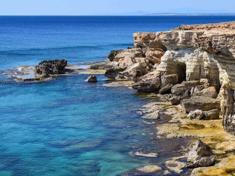The rocky Cyprus coastline