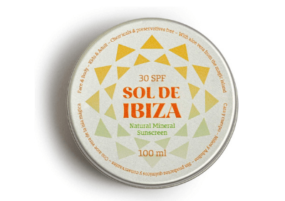 Tin of Sol de Ibiza, one of the best zero waste sunscreens