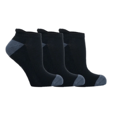 Product image of three black socks from Bamboo Clothing. Perfect eco-friendly gift ideas for travellers.