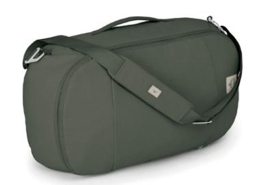 Osprey arcane duffel, part of the brand's eco-friendly range.