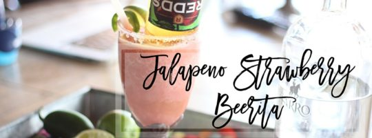 Jalapeno Strawberrita | Jalapeno Strawberry Beer Margarita