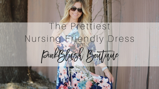 The Prettiest Nursing-Friendly Maxi Dress + Pinkblush Giveaway