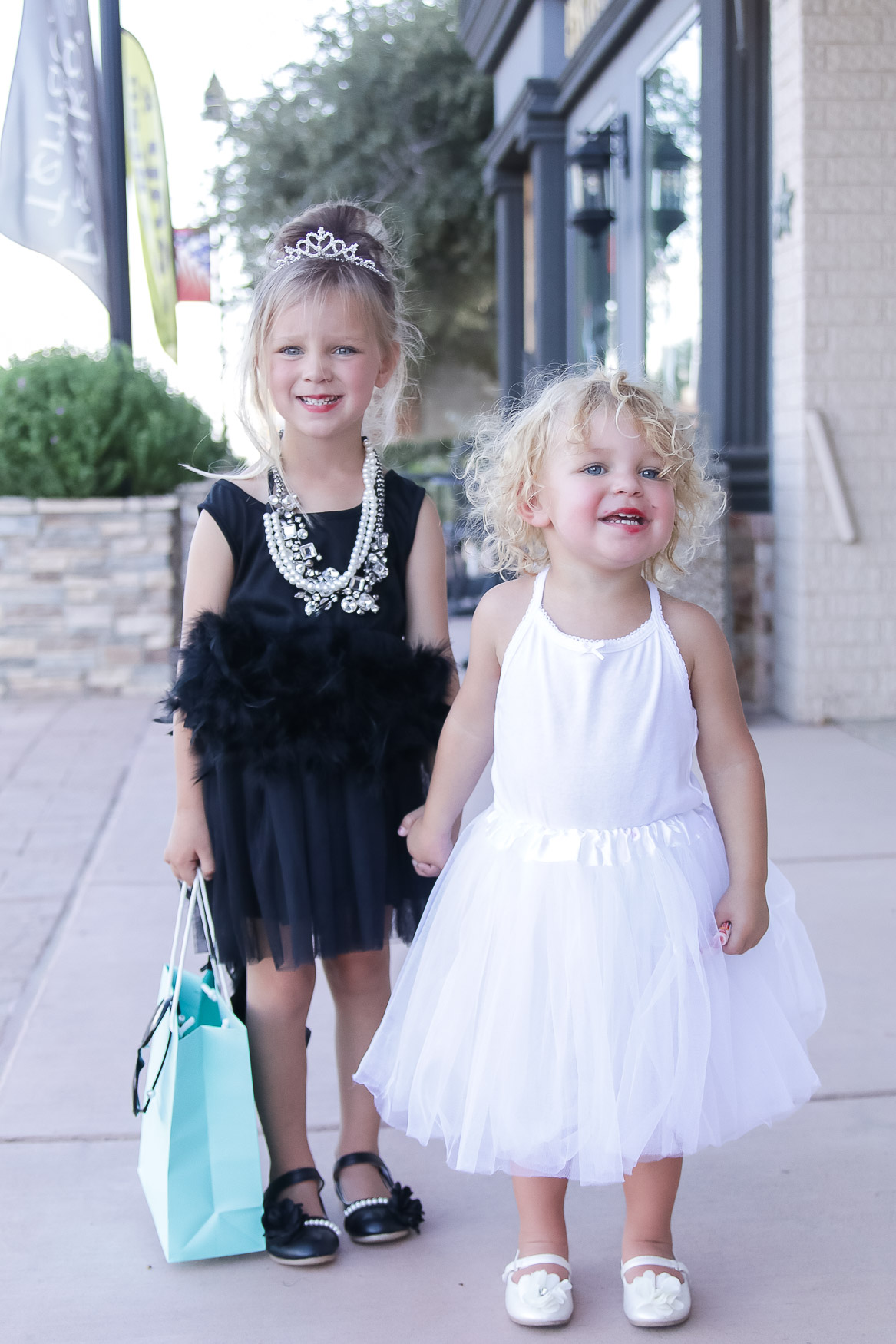 DIY Toddler Audrey Hepburn + Marilyn Monroe Costumes