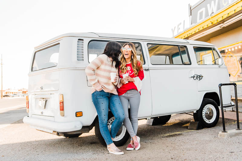 Love LOFT Celebrating Friendships with LOFT for Galentine's Day // best friend photoshoot // best friend pictures // best friend valentines day date