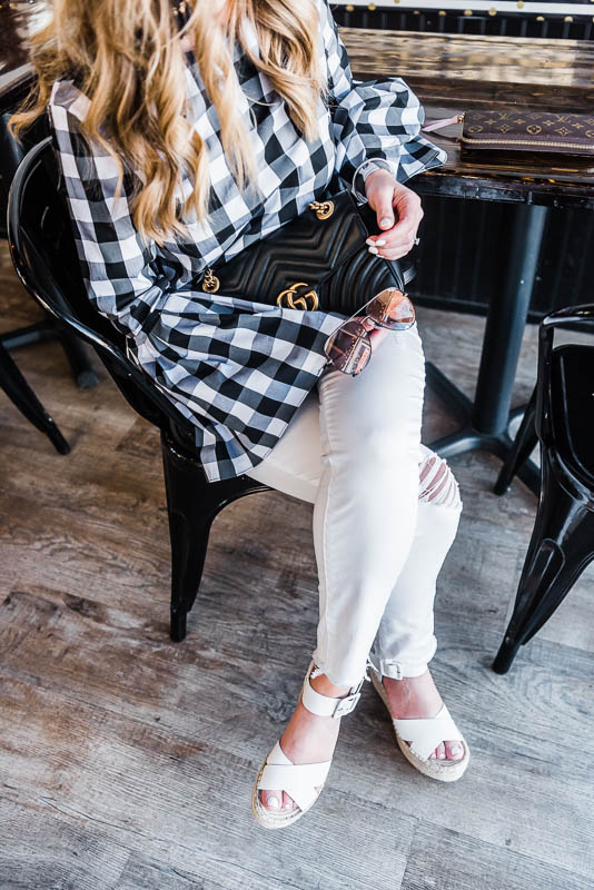 bell sleeves gingham for spring