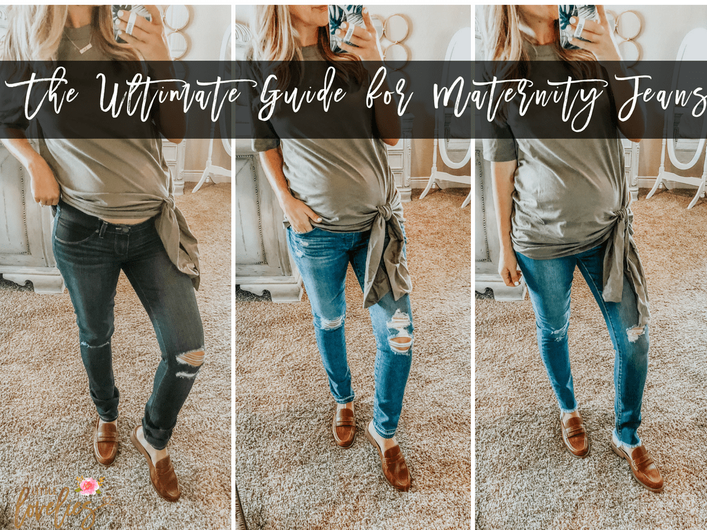 f55f4bd2b0284 The Ultimate Maternity Jeans Review - Little Lovelies Blog