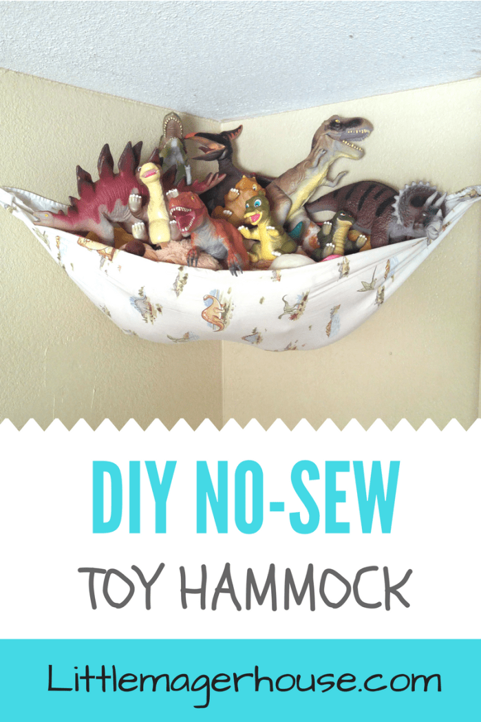 Diy Stuffed Animal Storage Hammock Easy No Sew Little Mager House