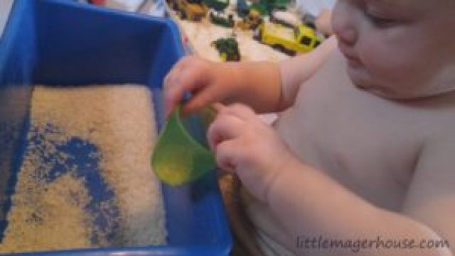 Sensory Rice Play - Keep the Kids Busy for Hours