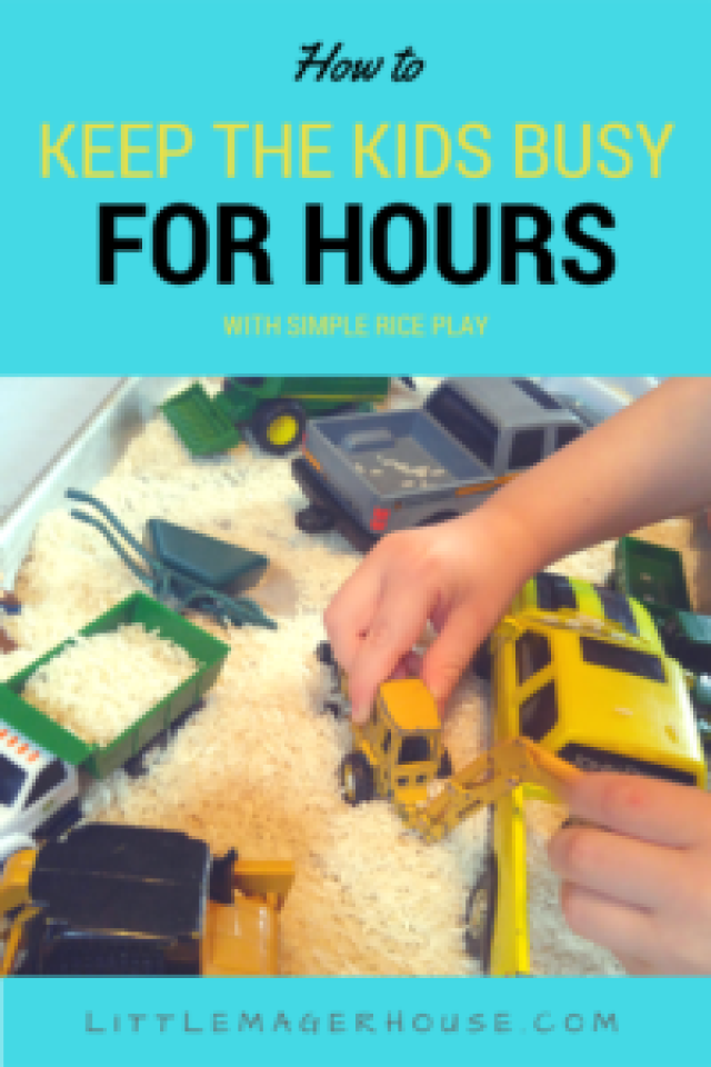 Rice Play - Keep the Kids Busy for Hours