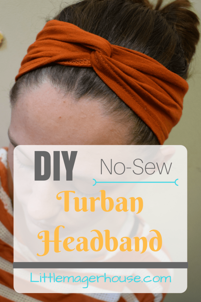 DIY Turban Headband - No-Sew