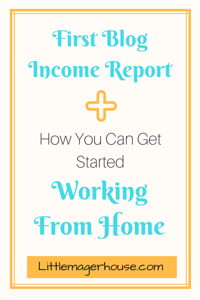1st Income Report - Get Started Working From Home