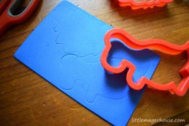 DIY Foam Lacing Cards Busy Bag
