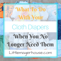 Finished With Cloth Diapers? What To Do With Them