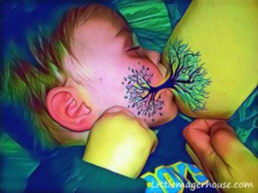 How to Make Tree of Life Breastfeeding Photos