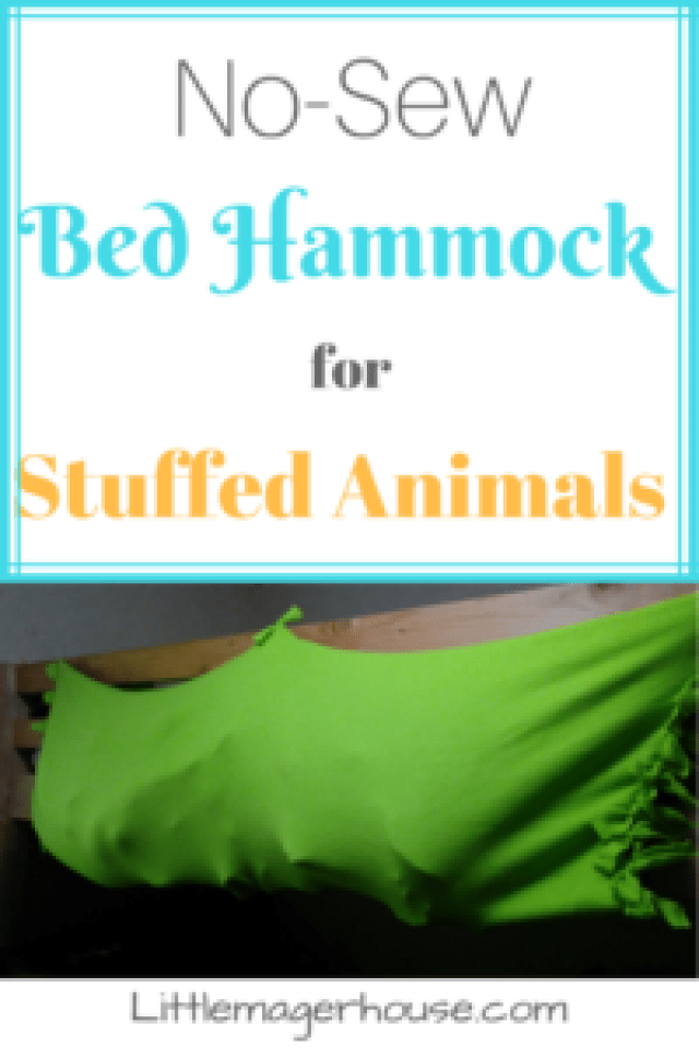 DIY Stuffed Animal Holder for a Bed - No-Sew