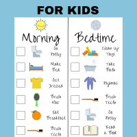 Free Printable Kids Daily Routine Checklist