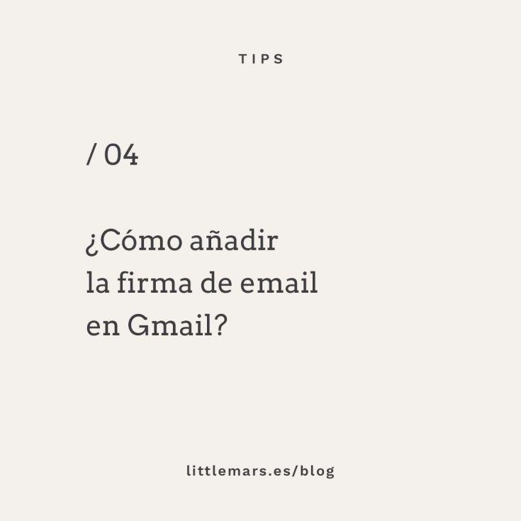 Tu firma de email en Gmail
