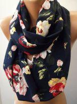 blackfloralscarve