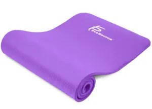 Extra Thick Yoga Mat. Great for yoga or pilates! littlemissblog.com