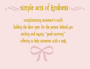 simple acts of kindness littlemissblog.com
