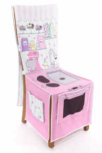 Bakery Shop Chair Cover from Little Adventures. Best Christmas Gifts for Kids littlemissblog.com