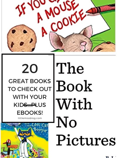 20 Great Books To Check Out With Your Kids! littlemissblog.com