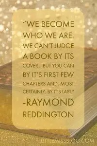 You Can't Judge a Book by it's Cover, but you can by the first few chapters and most certainly it's last- Red Reddington littlemissblog.com